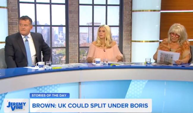 Panellists Paul Burrell, Nicola McLean and Carole Malone gave their thoughts on Scottish independence on Channel 5's Jeremy Vine show