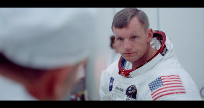 A remastered image of Apollo 11 Commander Neil Armstrong