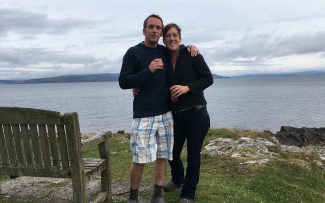 Lizanne Zietsman and husband John Malpas, who has linked his wife's case to the Tories' 'hostile environment' policy.. Photograph: Triangle News