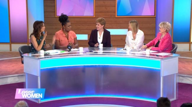 First Minister Nicola Sturgeon appeared on ITV's Loose Women