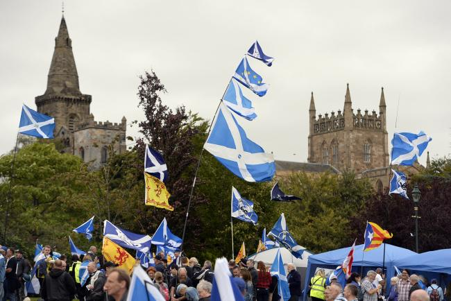 Scottish independence supporters will be marching in Dunfermline