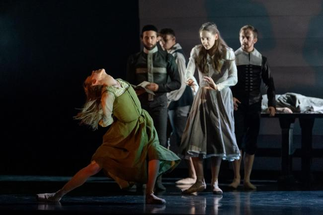 Constance Devernay and company in Scottish Ballet's The Crucible by Arthur Miller
