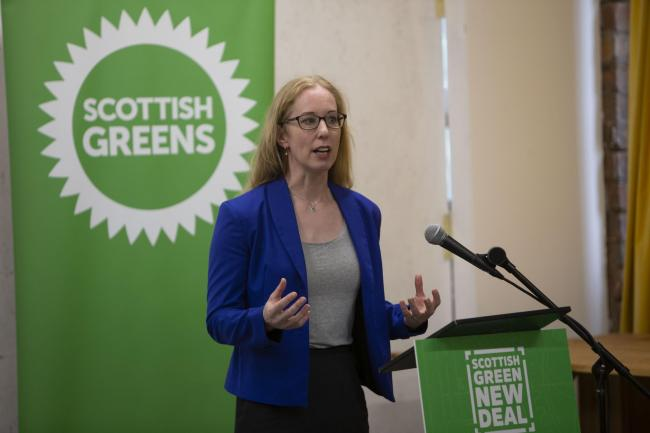 Lorna Slater launches the Scottish Green's manifesto, saying that the UK needs to catch up with Scotland's ambitions to tackle the climate crisis