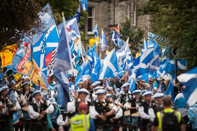 The third annual Dunfermline independence march took place on Saturday