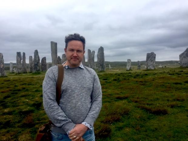 The National: Alan Bissett at Callanish on Lewis