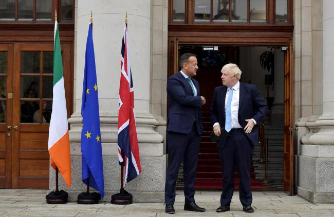 The Irish border was discussed by Leo Varadkar and Boris Johnson