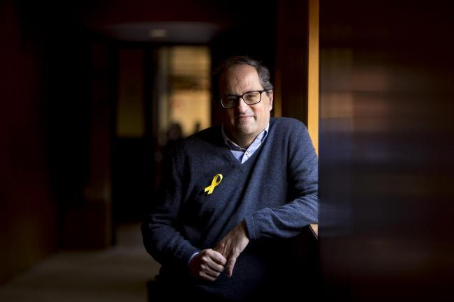 Catalan president Quim Torra is urging independence supporters to regain the initiative