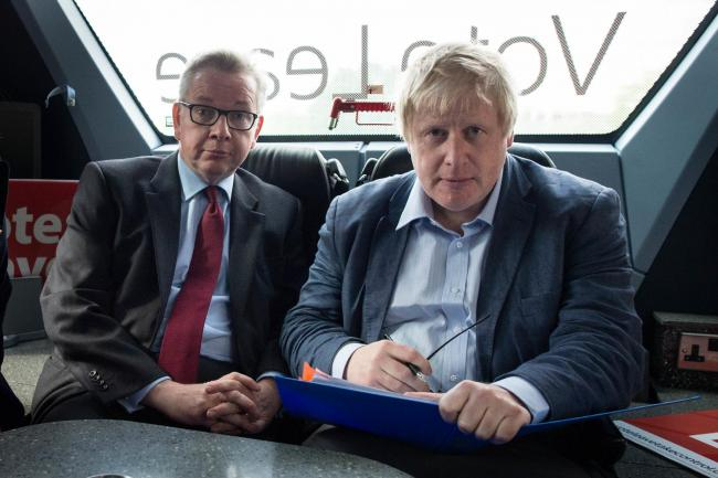 Michael Gove and Boris Johnson (right)