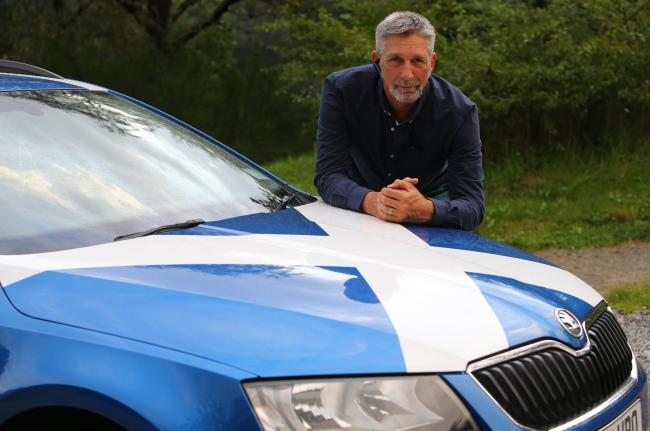 Rob Jamieson was ordered by Stirling Council to remove a Saltire cross from his car