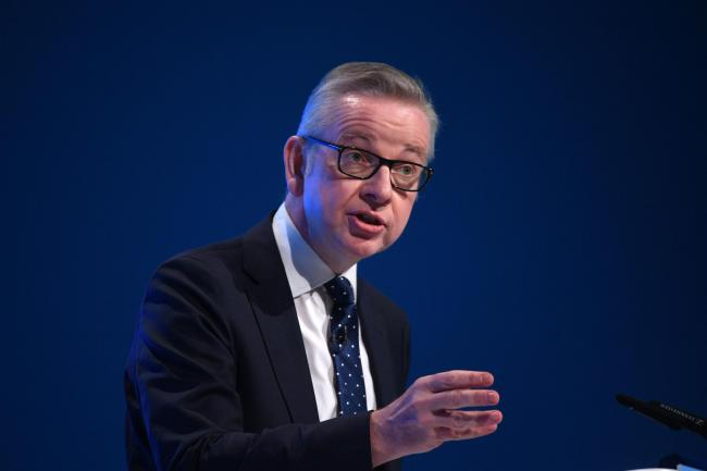 Tory Cabinet member Michael Gove was challenged over his position