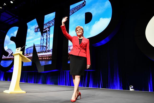 First Minister Nicola Sturgeon will deliver her speech on Tuesday