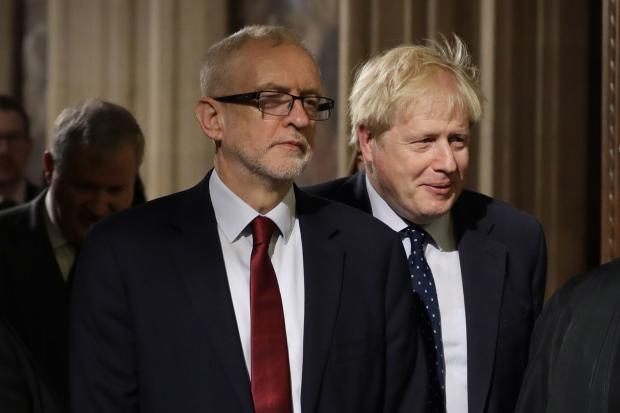 Not amusing: Boris Johnson and Jeremy Corbyn as a leadership choice. Amusing: The film Dumb And Dumber (below)