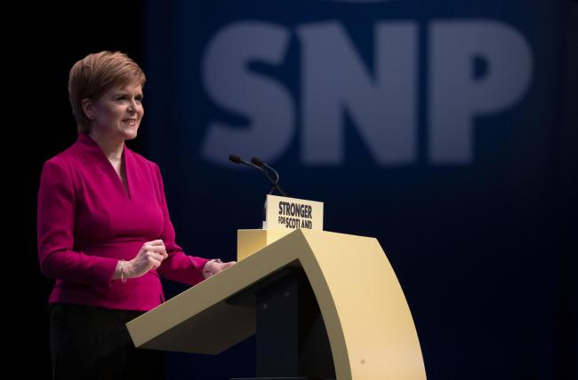 Nicola Sturgeon's SNP conference speech was reimagined for the clip