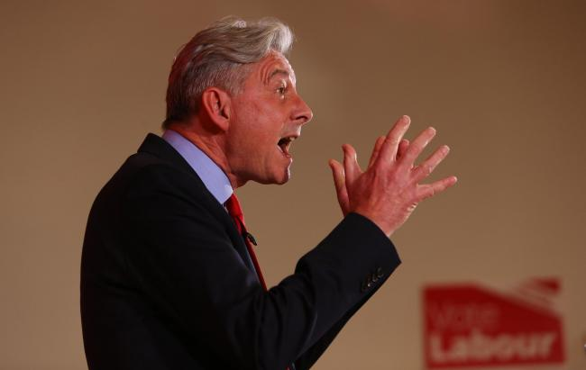 Scottish Labour leader Richard Leonard launched his party's election campaign in the Glasgow North constituency. Photograph: Colin Mearns