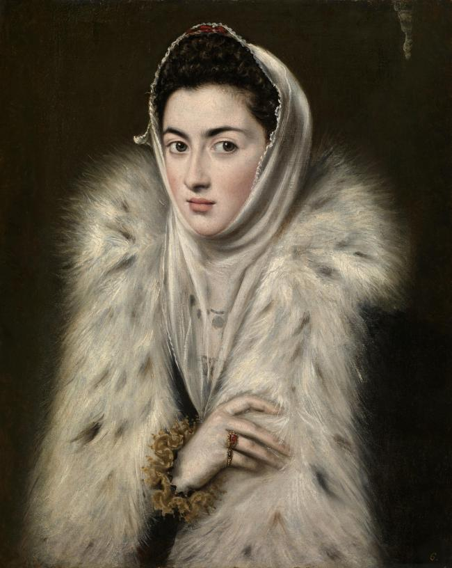 The Lady In A Fur Wrap was painted by Spanish artist Alonso Sanchez Coello and not by renowned artist El Greco as previously thought