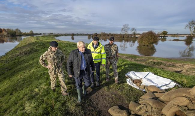 Boris Johnson visits flooded South Yorkshire on the campaign trail