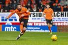 Dundee United's Nicky Clark scores to make it 2-0  against Queen of the South