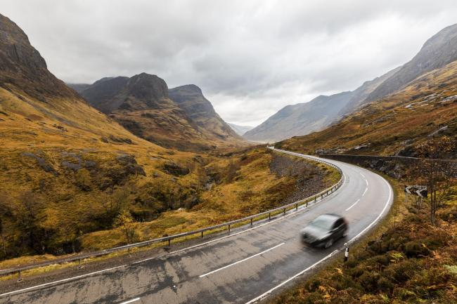 With no access to power, electric cars would not fare well in the Highlands