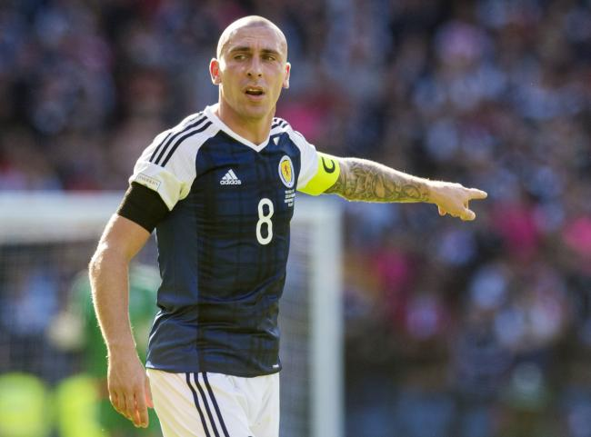 Scott Brown in action for Scotland.
