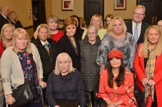 Mesh campaigners, women who have been injured after vaginal mesh surgery meet with First Minister Nicola Sturgeon and Scottish Conservative leader Jackson Carlaw. Photo by Jamie Simpson