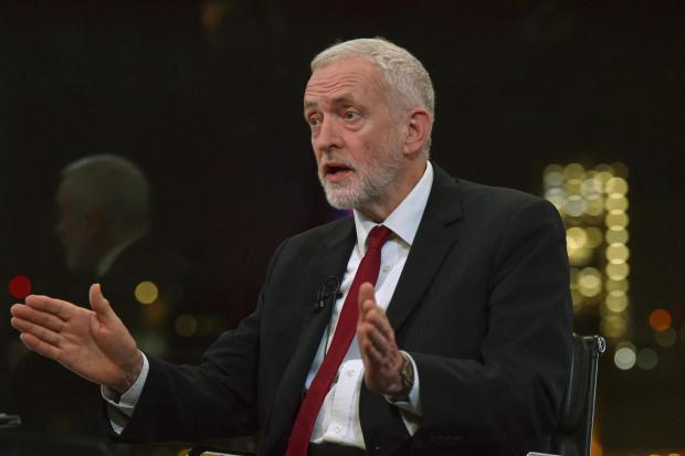 The National: Jeremy Corbyn speaks to the BBC's Andrew Neil