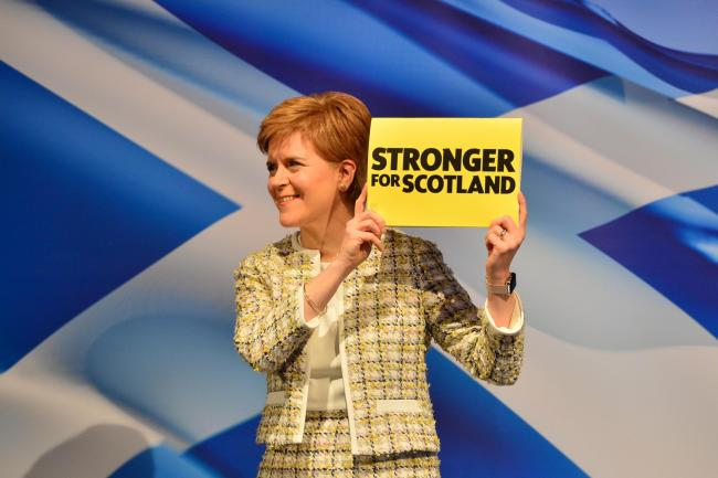 The First Minister had a spring in her step as she launched the SNP's manifesto in Glasgow, not that the media reported it