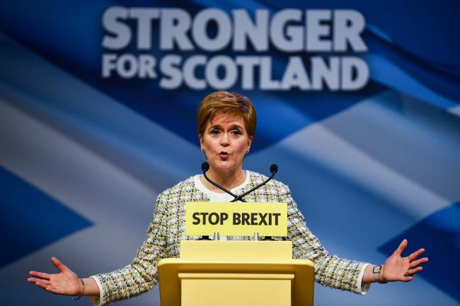 First Minister of Scotland and leader of the Scottish National Party, Nicola Sturgeon is the only leader with a positive rating