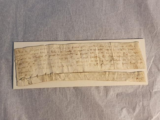 The letter was written by Robert the Bruce in 1312