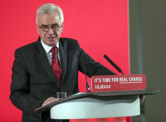 Shadow chancellor John McDonnell says that the SNP should support Labour to keep the Tories out