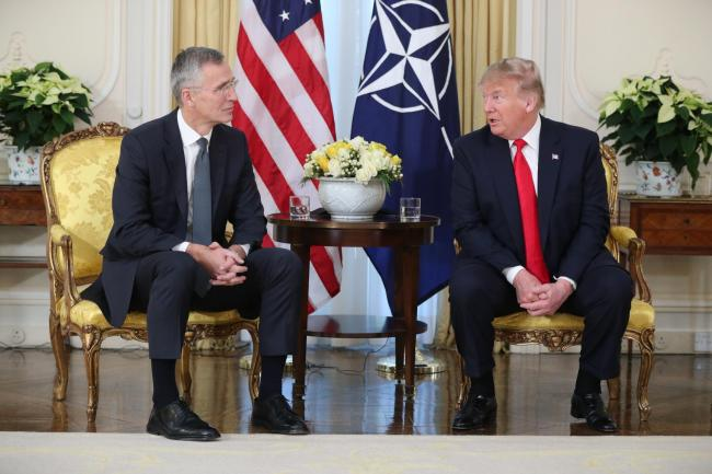 Donald Trump held a meeting with Nato General Secretary Jens Stoltenberg