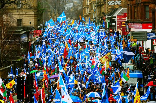 Marchers showed up in their tens of thousands to campaign in favour of Scottish independence