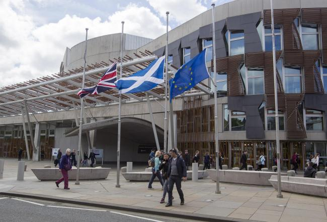 A Better Together coalition is hoping to remove the EU flag from Holyrood after Brexit