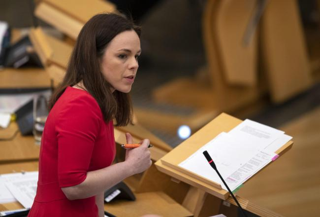 Finance Secretary Kate Forbes was praised by Green MSP Mark Ruskell for 'rescuing negotiations with the Greens'