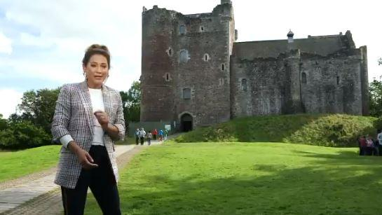 Ginger Zee told viewers about Scotland's history, and how the programme presents it