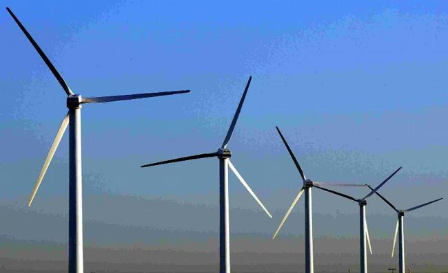 Most of the energy generation came from wind on land, the figures showed