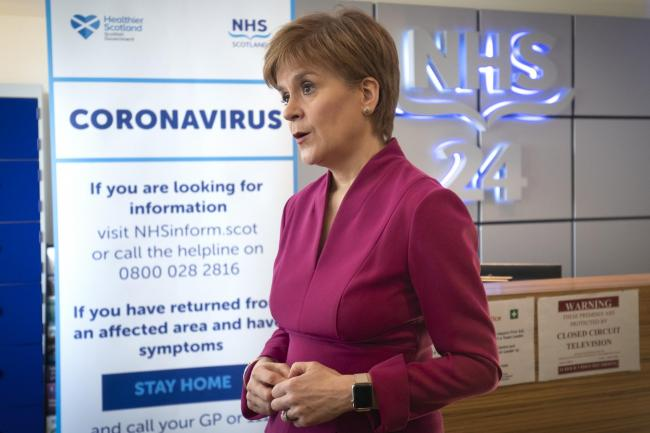 Nicola Sturgeon condemned the actions of Britannia Hotels