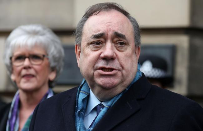 Alex Salmond speaks outside the High Court in Edinburgh after he was cleared of all charges