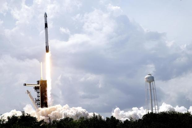 The SpaceX crew took off from Cape Canaveral in Florida