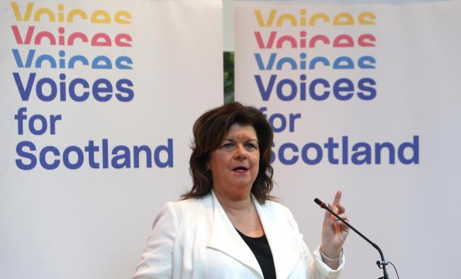 Elaine C Smith spoke at a Voices for Scotland event last year