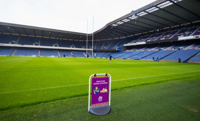 A general view of Murrayfield