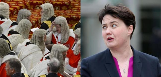 Ruth Davidson was made a Tory peer by the Prime Minister last week
