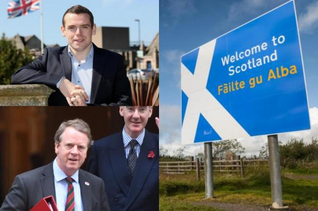 Douglas Ross, Alister Jack and Jacob Rees-Mogg have all hit out at talk of Scottish Border restrictions