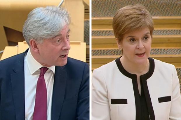 Richard Leonard clashed with Nicola Sturgeon at First Minister's Questions