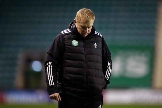 Neil Lennon cut a dejected figure after Celtic's draw at Hibernian.