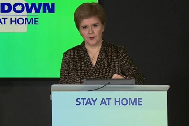 First Minister Nicola Sturgeon gave an update on the latest figures