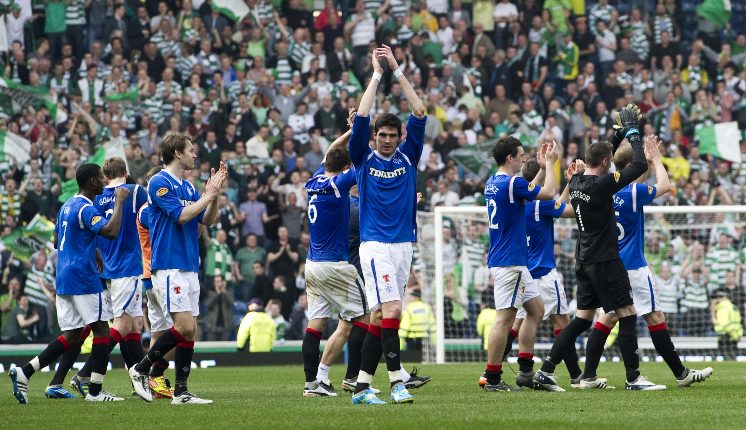 Rangers denied Celtic the chance to confirm the league title at Ibrox back in 2012