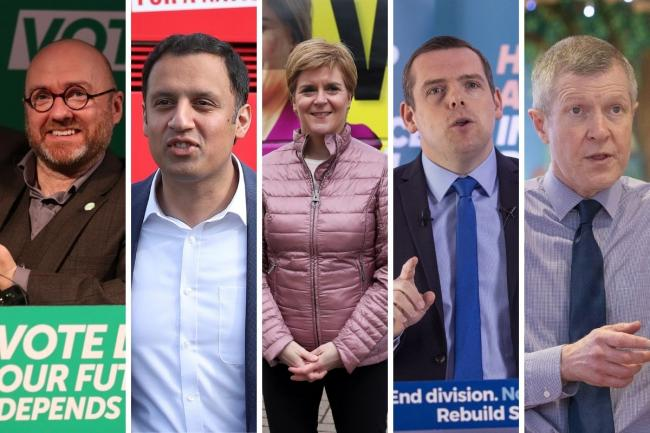 The leaders of five Scottish political parties will face off one last time before Scotland goes to the polls on Thursday