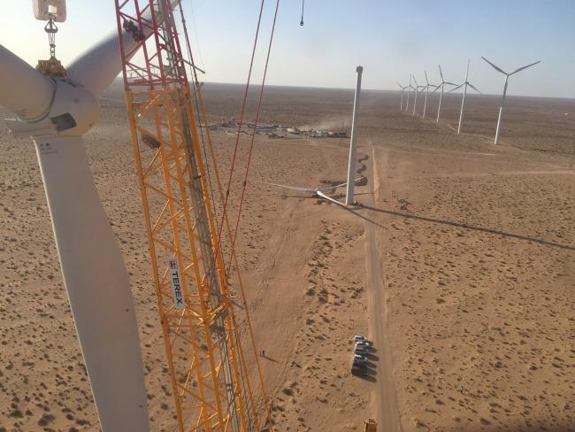 Ayrshire business Windhoist erect turbines in Morocco