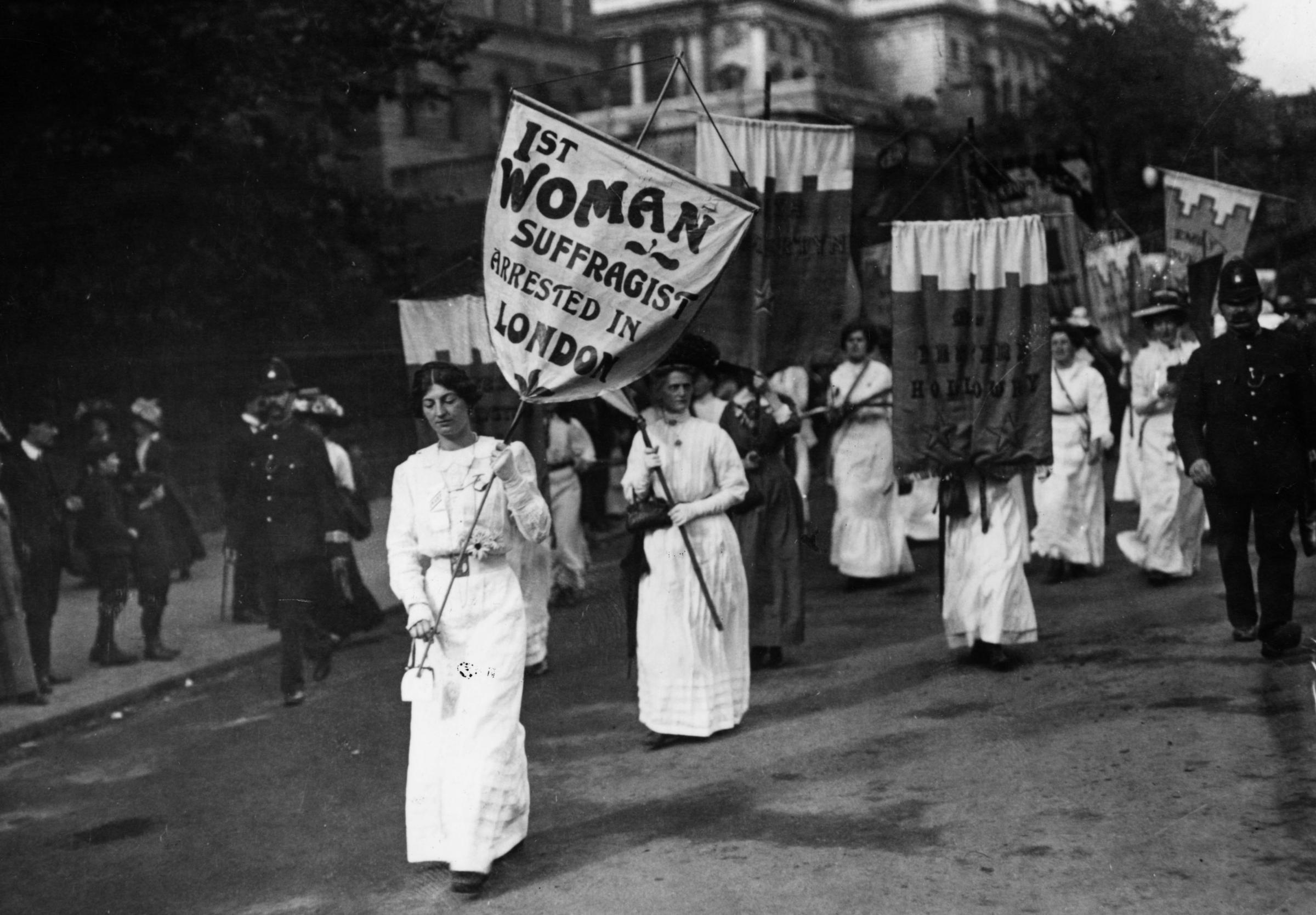 Suffragists believed in doing things by entirely lawful means