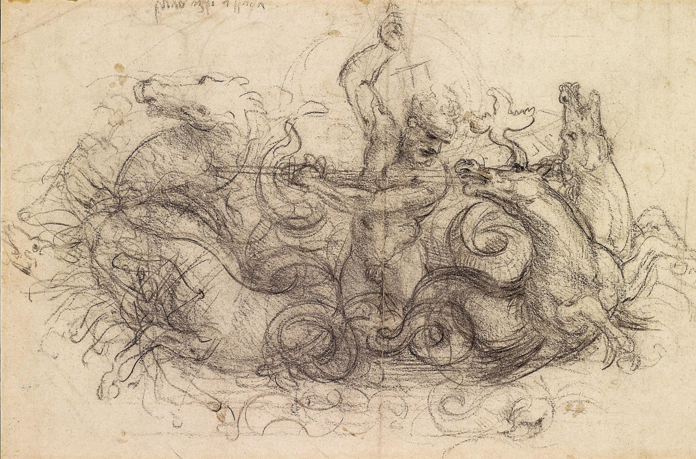 One of the almost 150 drawings by Leonardo da Vinci that will go on display. Photograph: PA